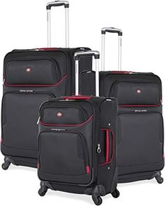 online shopping for SwissGear Expandable Spinner Wheel Black Suitcase Set - Softshell & Lightweight from top store. See new offer for SwissGear Expandable Spinner Wheel Black Suitcase Set - Softshell & Lightweight Crossbody Messenger Bag, Rucksack Backpack, Duffel Bag, Luggage Case, Travel Luggage, Lightweight Luggage, Medical Bag, Suitcase Set, Computer Bags