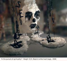 Pakistani Artist, Khalil Chishtee. Plastic Bag Sculptures