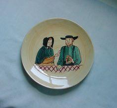 Vintage Pennsbury Pottery Plate Amish Couple Pretzel Cider Beer Ale Mug Stein #PennsburyPottery