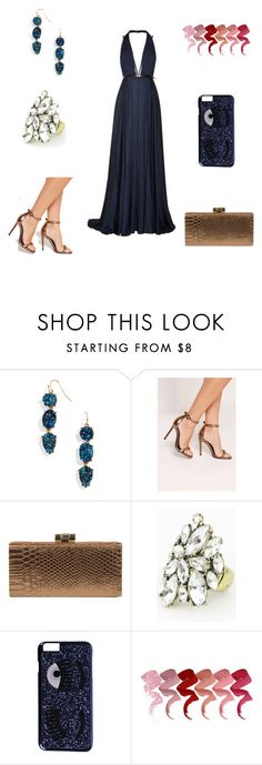 """""""Untitled #1228"""" by wali-emna on Polyvore featuring BaubleBar, Missguided, Jessica McClintock and Chiara Ferragni"""