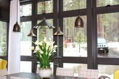 Lighting Crush -- check out her post for great lighting alternatives and the correct height to hang a chandelier.