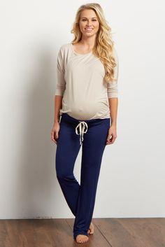 Charcoal Drawstring Maternity Pajama Pants ceb5d4a3e