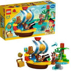 Lego 10514 duplo Jake et les pirates du Pays Imaginaire : Le vaisseau pirate de Jake, LEGO - myToys.fr