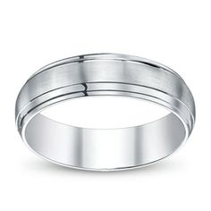 Gravure Mens 14K White Gold Wedding Ring