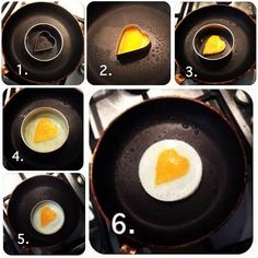 DIY Heart Shaped Fried Egg.  Please also like our Facebook page: https://www.facebook.com/icreativeideas