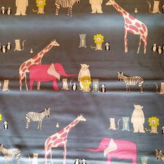 Menagerie in Blue - Fridays Off Fabric Shop - Online fabric store Canada