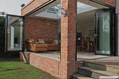 Extension with bi-folding doors and sky light
