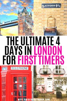 This is the ultimate 4 days in London itinerary | London Travel | London Itinerary | London Travel Photos | London Travel Places | Things to do in London England | 4 Days in London Packing | London Itinerary First Time | London Travel Guide | London Travel Tips | Europe Destinations | Travel Ideas | UK Destinations Travel Route, Europe Travel Tips, Travel Destinations, Travel Guides, London England Travel, London Travel, Bath Travel, England Countryside, London Photos