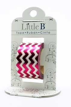 Pink Chevron Washi Tape Foil Tape Little B by MailboxHappiness