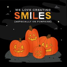 WE CREATE SMILES that put jack-o-lanterns to shame! Straightening your teeth is a real confidence booster. Dental Puns, Dental Fun Facts, Dental Quotes, Dentist Humor, Dental Hygiene, Kids Health, Oral Health, Dental Health, Dental Images