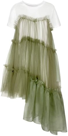 Browse Raven Jersey Tulle Organza Army Dress (XS) and more from IN. Fashion 2020, Look Fashion, Diy Fashion, Ideias Fashion, Fashion Dresses, Spring Fashion, Petite Fashion, Mesh Dress, Diy Dress