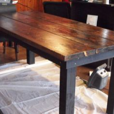 Solid Wood Montana Distressed Dining Room Table   Can Do Coffee Tables, Counter  Height Tables And Rustic Couch Tables Etsy.com | Pinterest | Rustic Couch,  ...