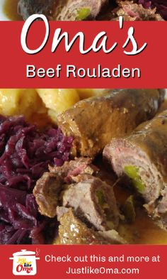 THE traditional German food! A delicious meal for any occasion! THE traditional German food! A delicious meal for any occasion! Rouladen Recipe, Beef Rouladen, German Rouladen, Meat Recipes, Gourmet Recipes, Cooking Recipes, Healthy Recipes, Diabetic Recipes, Austrian Recipes