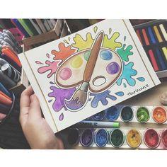 Me tarde en escoger qué haría para hoy y me fui por esta idea ¿Que tal?🤓🤗 Segundo dia del reto MARTES: Acuarela 🎨 Colaborando con mi vayan y denle amor a sus dibujos tambien😋 Tumblr Drawings, Cute Drawings, Mandala Art, Mandala Design, Kawaii Doodles, Art Folder, Aesthetic Drawing, Colorful Drawings, Doodle Art