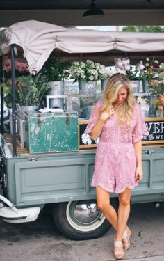 Lovely In London Lace Romper   Styled by: @chloebarnold