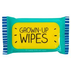 Grown-up Pocket Wet Wipes Take these 10 handy little wet wipes from Happy Jackson with you wherever you go! Wet Wipe, Gadget Gifts, Novelty Gifts, Online Gifts, Growing Up, Jackson, Cleaning, Pocket, Happy