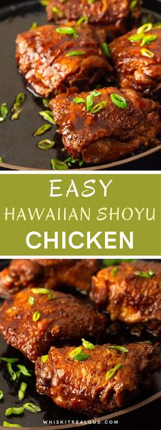 This Shoyu chicken is too easy! The Hawaiian chicken simmers in its own bubbly brown savory sauce until the meat is juicy and tender. This will become one of your favorite easy weeknight recipes! #chicken #hawaiianchchiken #shoyuchicken #whiskitrealgud @whiskitrealgud | whiskitrealgud.com