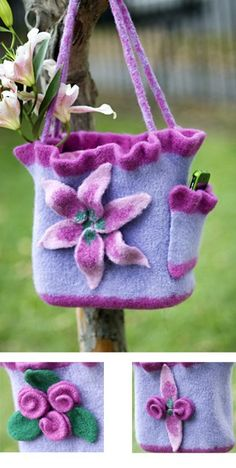 Spring Mix Tote by Lisa M. Barnes. Found this at Universalyarn.com, but pattern is no longer available...booo.