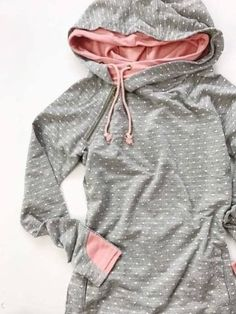 Our most popular piece and for good reason! This hoodie is the cutest way to stay comfortable and cozy while remaining dang cute! It's zipper detail adds a fun element, Sweatshirt Outfit, Sweatshirt Dress, Sweat Shirt, Casual Outfits, Cute Outfits, Fashion Outfits, Pretty Shirts, Hooded Sweatshirts, Hoodies