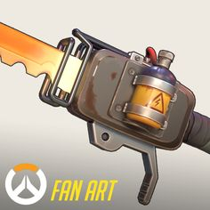 "I saw this amazing concept by Fernando Correa and thought: ""This would be amazing as a Overwatch style weapon! So yeah, this is my attempt at an Overwatch Game Props, Overwatch, Game Art, Blade, Weapons, Artwork, Environment, 3d, Guns"