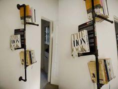Inspirerende boekenplanken van buizen: http://woonspiratie.wordpress.com/2012/07/18/inspirerende-boekenplanken-van-buizen/#jp-carousel-407