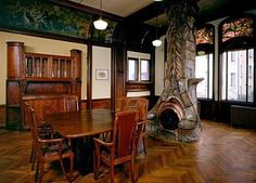 Hector Art Nouveau interior | An exercise of the forms of art nouveau and art deco, which was ...
