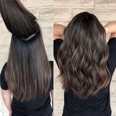 Brown Hair Balayage, Brown Blonde Hair, Balayage Brunette, Hair Color Balayage, Brunette Hair, Dark Hair, Hair Highlights, Thick Hair, Brunette Color