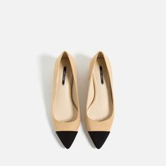 Image 7 of MID-HEEL SHOES WITH CONTRASTING TOE CAP from Zara