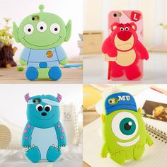 3D Cartoon cute Disney mike SULLEY SILICONE soft case cover for iphone 6 plus 5S #RLH