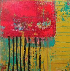 """""""The Trees Made No Apologies"""" mixed media on cradled wood by Jacqui Fehl"""