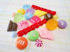 Candy Cabochon Set  Phone Decoden Cabochons  by TheMintBeadery, $4.75