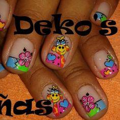 Trabajos de este Spa, que son una obra de arte... Deko's SPA Animal Nail Designs, Manicure Y Pedicure, Nail Colors, Hair Beauty, Nail Art, Crafts, Nails Design, Triangles, Nail Ideas