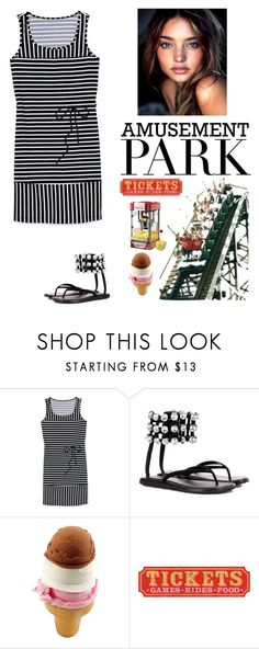 """Amusement park fashion"" by kotnourka ❤ liked on Polyvore featuring Lands' End, Alexander Wang, Nostalgia Electrics, amusementpark and 60secondstyle"