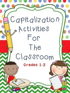 Capitalization This capitalization book for elementary students will provide students with an opportunity to practice and improve their writing skills.  This book was created using the Common Core Standards.Please click on the preview to view the entire product to ensure customer satisfaction.Thank you for stopping by my store!Click on the links below to view additional items: Autumn = A Reading Comprehension Activity Book  All About Spiders  Adverbs  Adjectives  All About Me  Perfect ...