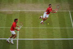 Defending doubles champions Roger Federer and Stanislas Wawrinka - Tom Lovelock/AELTC