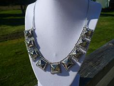 Anarchic Punk Pyramid Stud Necklace by KukoCreations on Etsy, $20.00