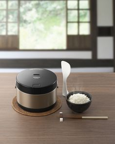 This novel separated type IH rice cooker is for smaller household.
