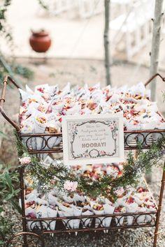 Trending Now: Wedding Ceremony Petal Bars