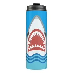 Funny Shark Jaws Cartoon Thermal Tumbler by Antique Images on Zazzle @zazzle #zazzle #art #home #decor #look #cool #sweet #awesome #awesomeness #buy #shop #shopping #sale #nice #homedecor #jaws #movie #vintage #shark #vacation #fish #ocean #sea #waves #nautical #aquatic #cartoon #illustration #drawing #dining #drinking #kitchen #water #jug #work #out #fitness