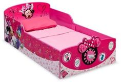 Delta Children Interactive Wood Toddler Bed Disney Minnie Mouse * Check this awesome product by going to the link at the image. Wooden Toddler Bed, Diy Toddler Bed, Toddler Bed Sheets, Mickey Mouse Toddler Bed, Minnie Mouse, Disney With A Toddler, Toddler Furniture, Kids Bedroom Furniture, Bedroom Ideas