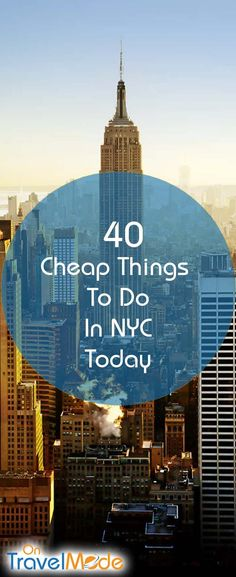 It is easy to spend a lot of money when visiting NYC.  As New York natives who have been living in one of the most expensive cities all of our lives, we totally know.  No need to fret though… we have put together a guide of 40 cheap things to do in NYC today (and many are FREE).  This guide will help you save some of your hard earned dollars.   So take notes, go out, and enjoy!