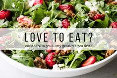 Romantic Dinner Recipes, Romantic Dinners, Small Food Processor, Food Processor Recipes, Japanese Cucumber Salad, Caramelized Walnuts, Bean Salad Recipes, Lunch Recipes, Berry Salad