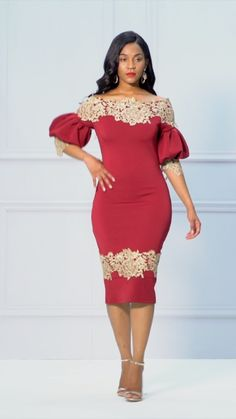 Burgundy Lantern Sleeve Floral Backless Bodycon Dress>>NEW Latest African Fashion Dresses, African Dresses For Women, African Print Dresses, African Print Fashion, African Attire, Dressy Dresses, Elegant Dresses, Mode Outfits, Dress Outfits