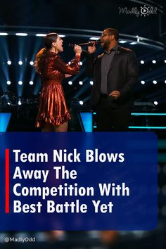 """Nick Jonas has turned out to be a remarkable coach, elevating the vocal strength of these two team members more than anyone could have imagined. Team Nick appears for The Battles of The Voice, placing Joanna Serenko and Roderick Chambers head-to-head in a duet of Billie Eilish """"when the party's over."""" #TeamNick #TheBattles #TheVoice"""