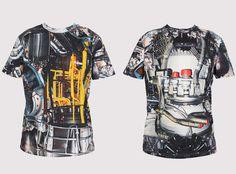 Christopher Kane Mechanics Print T-Shirts