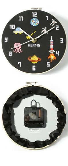 cross stitch  clock - Love This!!