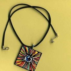 COLORFUL ART Pendant Hand Painted