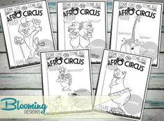 madagascar afro circus coloring pages - photo#7