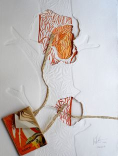 Rosa García - Artes Visuales - Grabado y Escultura Emboss Printing, Linocut Prints, Art Prints, Stitching On Paper, Tea Bag Art, Collagraph, Embossed Paper, Recycled Art, Mail Art
