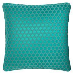 Nurata Honeycomb Teal Square Cushion